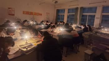 寒流來襲又限電!大陸禁開暖爐 學生點蠟燭讀書