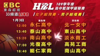 HBL男複賽、女預賽第5天!奪冠熱門交鋒 精彩賽事在東森超視