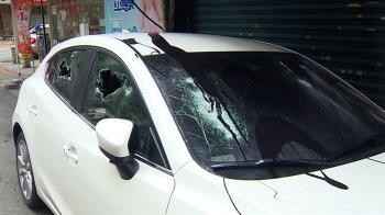 元旦最慘車主!台北男車停女友家巷口 醒來見愛車遭潑漆全砸爛