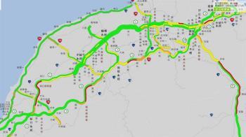 國道北返車潮湧現 部分路段時速不到40公里