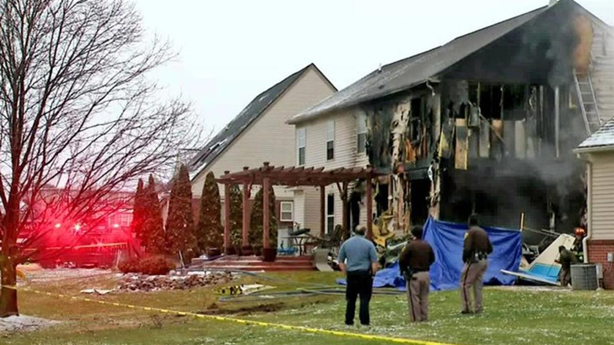 密西根州小飛機墜落撞進民宅 機上三人不幸罹難