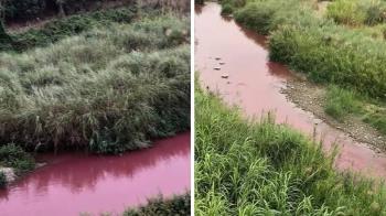 斗六驚見「紅色多瑙河」廢水 福懋興業遭雲縣重罰2000萬