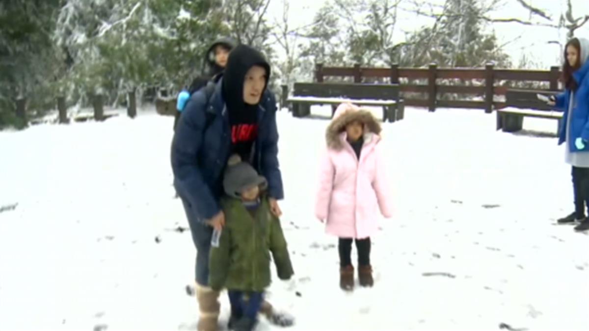 如夢幻仙境!太平山連日下雪 遊客雪地玩樂