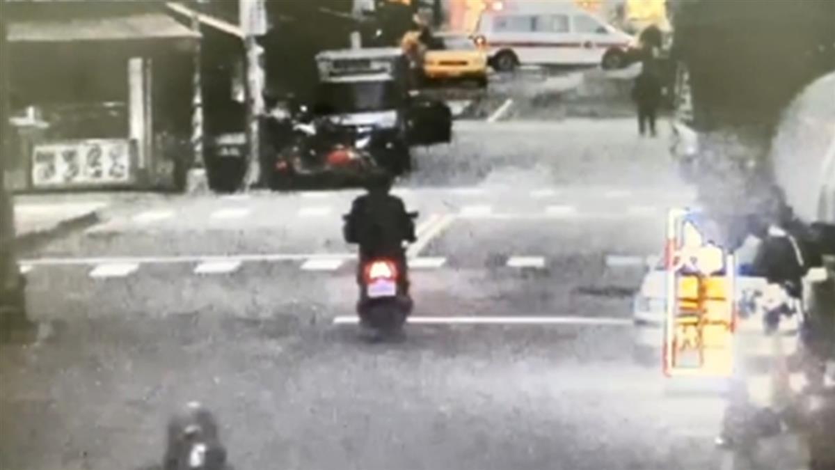 25歲海神男撞飛騎士「酒測值0.55」 6秒驚悚畫面曝
