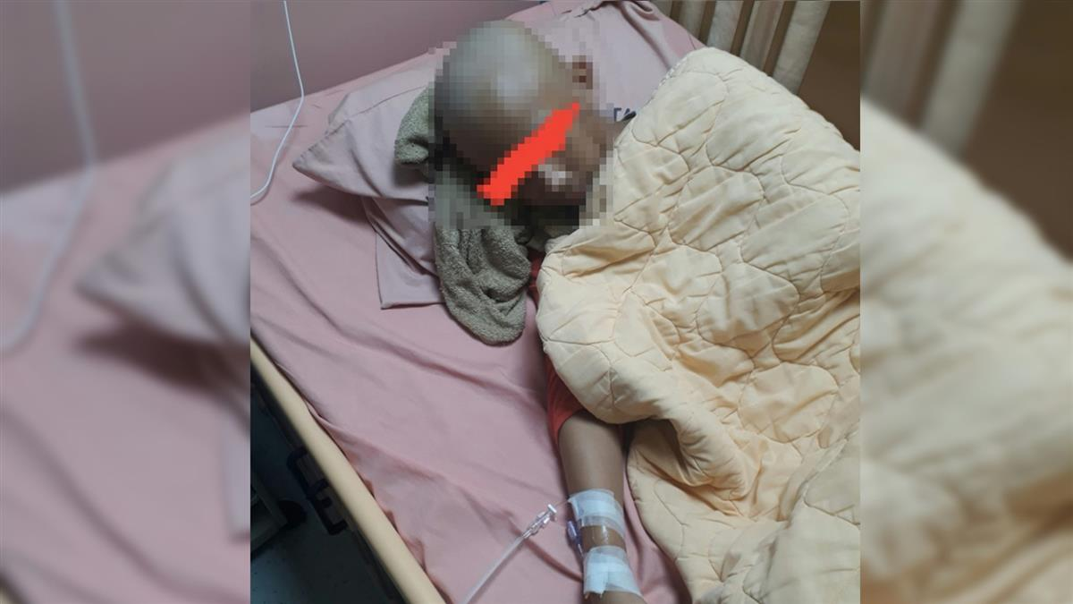 14歲兒3度罹癌挖臉削骨 單親爸存款剩400急慌