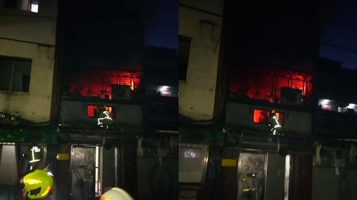 快訊/基隆電視疑爆炸!公寓2樓狂燒一片紅 20多歲男命危送醫