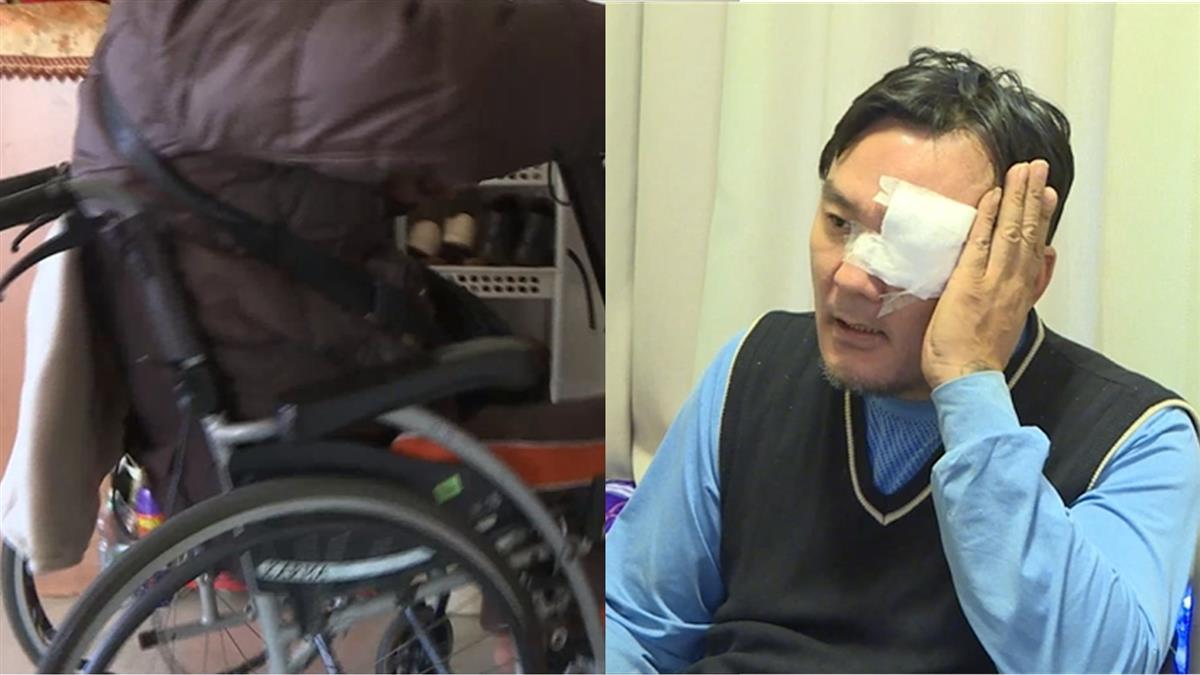 獨/男控無故遭拉下輪椅狂毆 警:因他持鐵槌敲桌