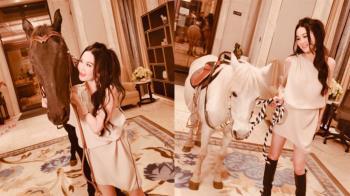 溫碧霞秀超美海景豪宅 客廳內牽馬網全喊「太奢華」