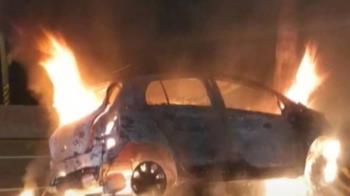 西門町商圈公車追撞 快速道路轎車自撞陷火海