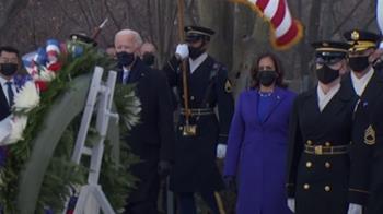 拜登訪國家公墓 宣誓完4小時後抵達白宮
