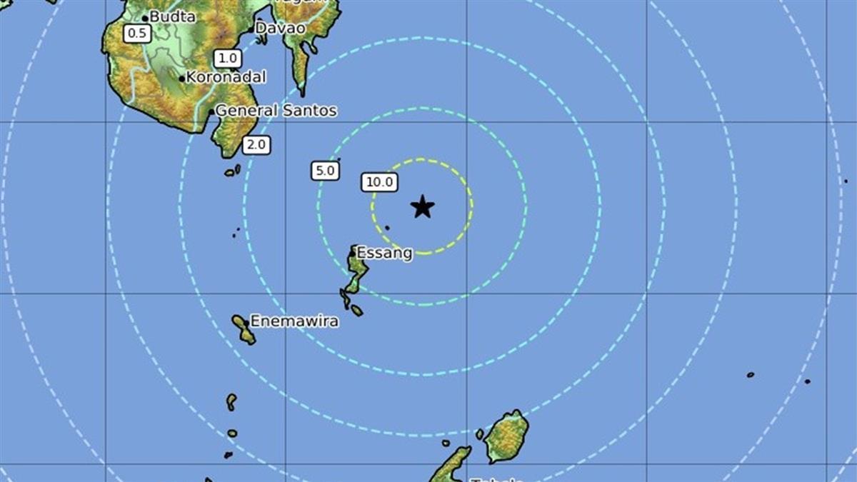 快訊/印尼塔勞群島發生7.0強震 深度達139公里