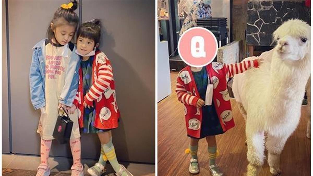 賈靜雯曬溜孩照!5歲咘咘暴風抽高、Bo妞門牙消失