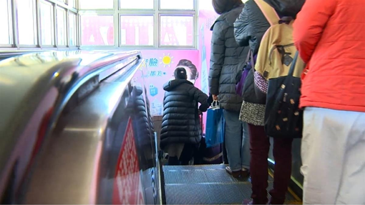 女醫站北捷手扶梯左側遭飆罵 火大開嗆捷運局