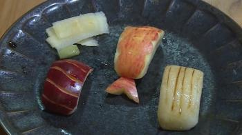 獨/巧手雕蘋果做「偽壽司」 網友跪求刀工技術