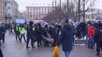 俄群眾示威聲援納瓦尼!5000多人被捕 歐盟官員譴責