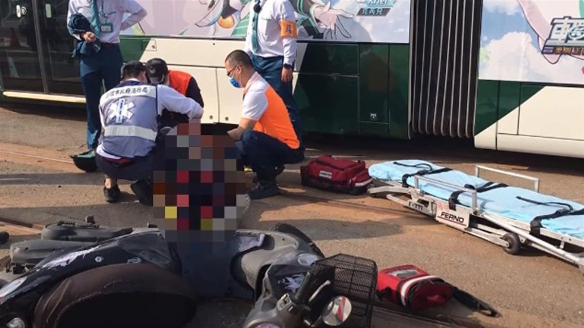 機車騎士「抄捷徑」撞擦輕軌 手腳擦傷遭求償