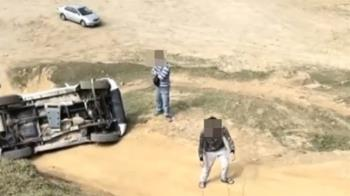 台版大峽谷意外 水牛坑越野車翻覆2人受困