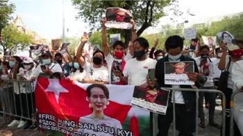 緬甸反政變示威升溫 軍方示意可能鎮壓