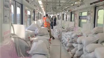 直擊!中捷列車沙包載重測試 2天拚完500K運轉
