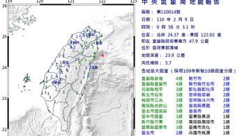 今年第8個規模5以上地震 氣象局:不排除是大地震前震