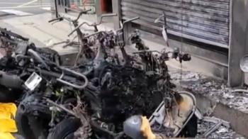 深夜縱火燒6機車逮1嫌 波及補習班 住戶濃煙嗆傷