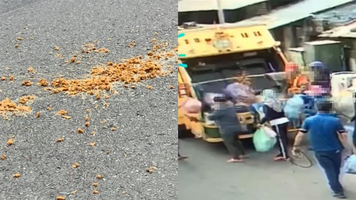 垃圾壓縮屎黃色炸出 女鄰居遭噴全身...兇手就在畫面中