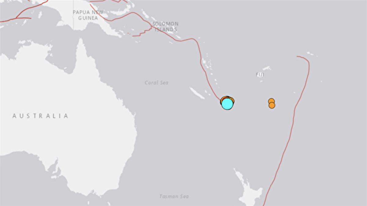 南太平洋海域規模7.7強震 引發海嘯