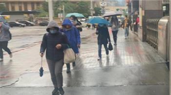 初二低溫探14度!北東部濕冷有雨 中南部日夜溫差大