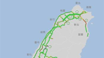 大年初三國道湧車潮 多處路段時速不到40公里