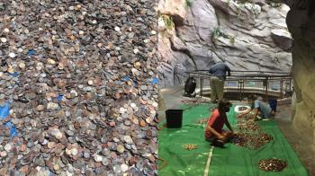 水族館挖出440kg「許願池硬幣」應急 花2周清點金額超驚人