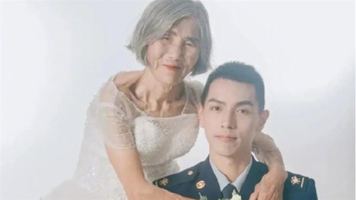 24歲帥男揪8旬嬤拍婚紗 背後原因藏洋蔥網噴淚