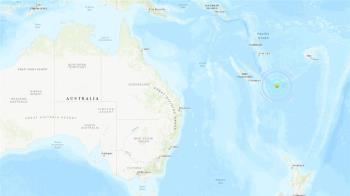 南太平洋羅雅提群島東南方地震 規模6.1