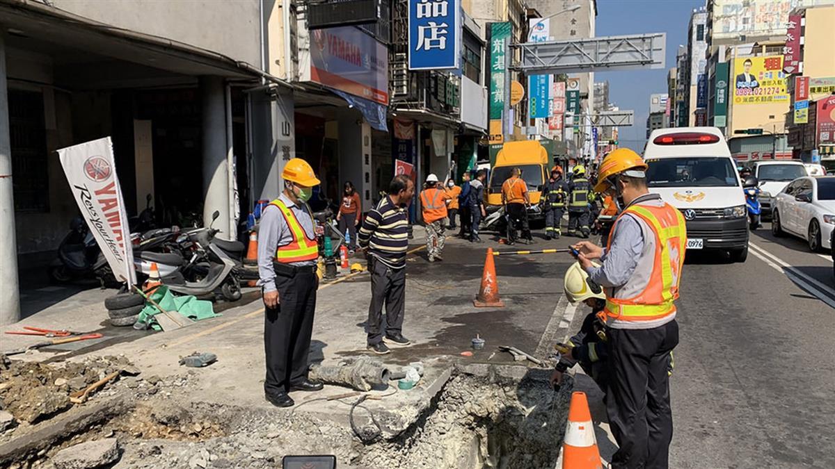 台中工人搶修瓦斯 管線不慎引燃...4人燒燙傷送醫