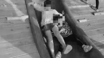 女童攔腰飛跳溜滑梯!3歲妹遭輾壓爆哭 受害媽氣炸