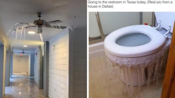 冷到馬桶都結凍 酷寒重創德州「數十萬戶停電中」