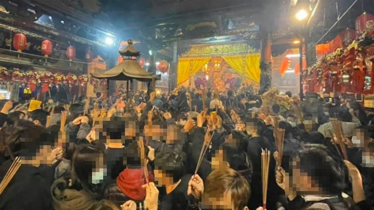 初九天公生!台北台南宮廟深夜湧人潮 信徒:塞住了