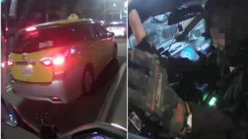 騎士遭小黃「2度逼車」險死公車站 驚悚影片曝光