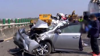 西濱21車連環撞!警曝3大撞擊區 7車涉過失致死遭查扣