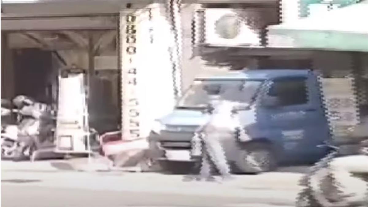 債務糾紛嚇對方 失業男招牌堵大樓出入口潑汽油被逮