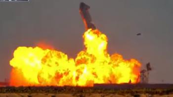 SpaceX星艦3度試飛成功降落 8分鐘後突爆炸成火球