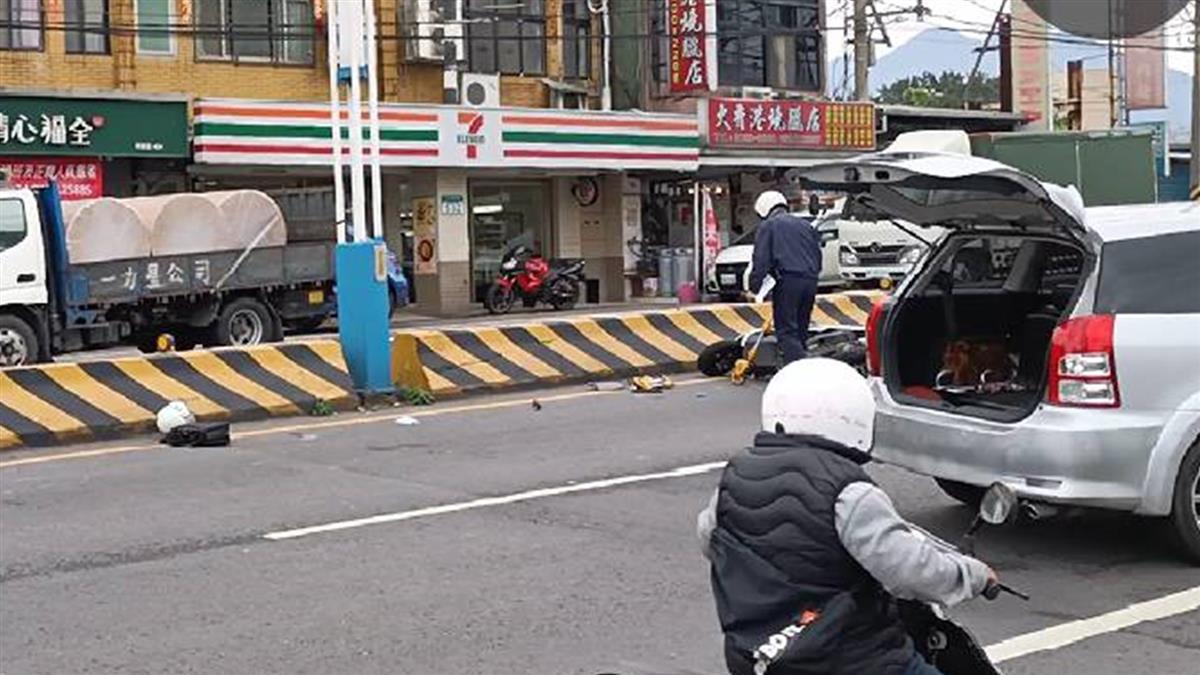 快訊/淡水22歲警巡邏被撞飛 陷昏迷搶救中