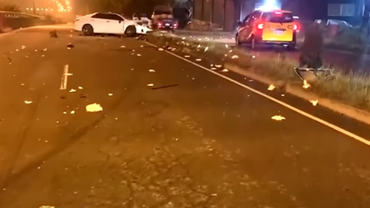 百萬名車疑超速!女騎士遭撞飛150米 頭部重創命危