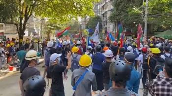 緬甸情勢升溫 美歐加英及聯合國籲讓示威者離開