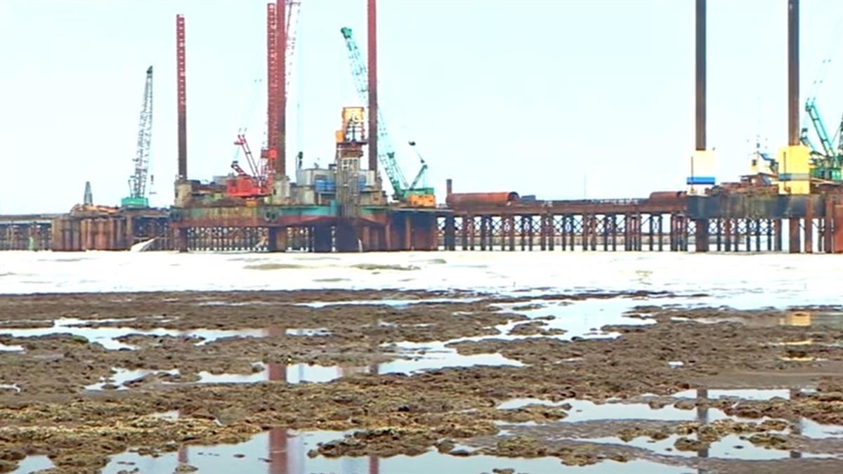 中油三接廠建設惹議 環團控「挖藻礁」毀生態