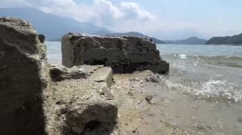 近10年最大乾旱!日月潭底200年遺跡露出 後代被迫還地