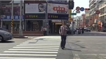 獨/拆除中博橋後 穿越斑馬線秒數太短 人行道太寬惹議