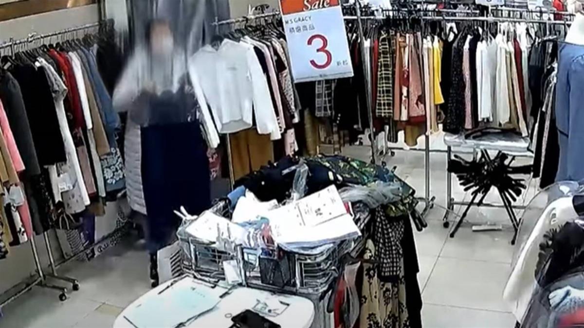 獨/把百貨特賣會當自家衣櫥 高挑女看喜歡就偷遭逮