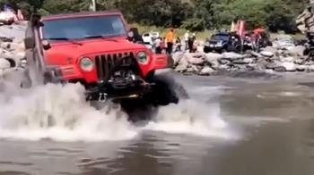 越野吉普車武界部落演訓 居民批破壞河床生態