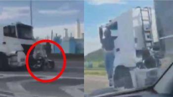 妻遭追撞喪命!尪怒攀貨車「死命掛窗外」追凶30公里逮人