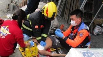 快訊/台南50歲工人3樓墜落 倒臥血泊無生跡